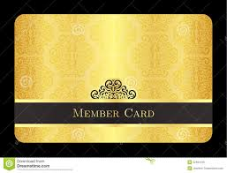golden member card with classic vintage pattern stock illustration