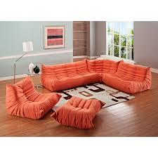Orange Sofa Bed by Amazon Com Modway Modern Waverunner Modular Sectional Sofa Set