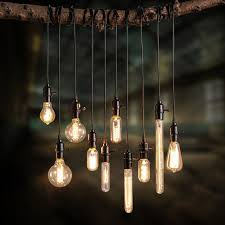 Exposed Bulb Chandelier Exposed Bulb And Cord Add A Vintage Industrial Feel Using