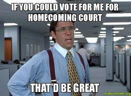Vote For Me Meme - if you could vote for me for homecoming court that d be great