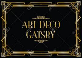 gatsby art deco background royalty free cliparts vectors and