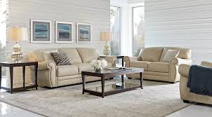 Rooms To Go Living Room Furniture by Martello Beige Leather 5 Pc Living Room Leather Living Rooms Beige