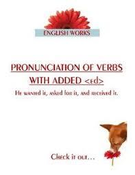 pronunciation of ed endings pronunciation pinterest