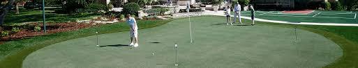 Backyard Golf Course by Lanmark Designs Backyard Golf Green Design