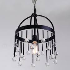 Iron Pendant Light Retro Industrial Loft Multiple Tea Glass Globe Black Iron Pendant