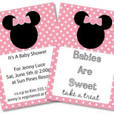 minnie mouse baby shower invitations free 28 images free