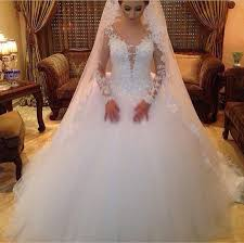 wedding dresses fluffy vestido de noiva 2015 vintage wedding dress with sleeves