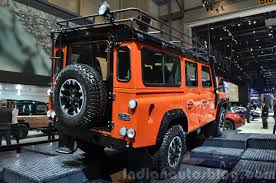 land rover defender interior land rover defender adventure edition 2015 geneva live