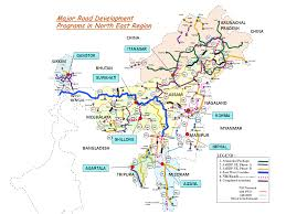 India On A World Map by Connecting The Country Road Infrastructure Make In India