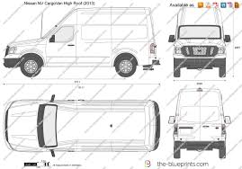 nissan cargo minivan the blueprints com vector drawing nissan nv cargovan high roof