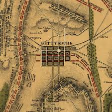 Battle Of Gettysburg Map Civil War 150th Backstory With The American History Guys