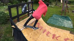 backyard mini ramp edit youtube
