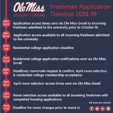 student housing incoming freshman application