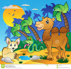 desert scene with various animals 1 stock images image 22613514