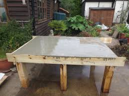 How To Make A Concrete Table by How To Make A Wooden Oven Stand With A Concrete Base Step By Step
