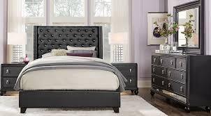 Black And Silver Bed Set Sofia Vergara Paris Silver 5 Pc Queen Upholstered Bedroom Queen