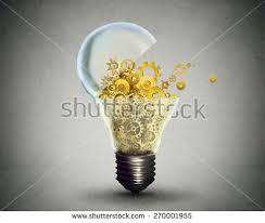 light bulb crumpled paper pencil light stock illustration