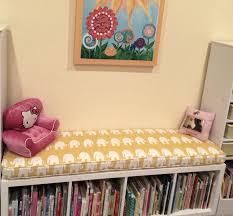 ikea kallax custom cushion playroom nursery organization bench
