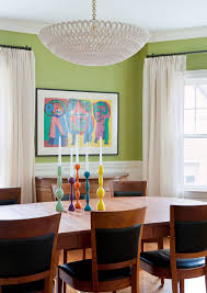 farmhouse interior paint colors dining room eclectic with green