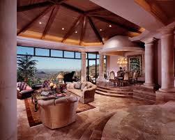 tuscan villa living room designed by john b scholz architect inc
