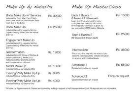 Makeup And Hair Classes Natasha Salon Services Complete Details U2013 Saloni Health U0026 Beauty