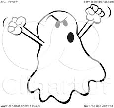 cartoon of a halloween ghost spooking royalty free vector