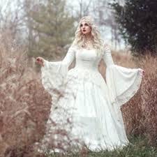 mariage celtique vintage renaissance blanc robe de mariage celtique médiévale