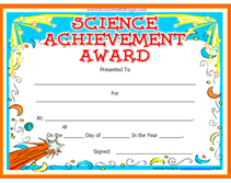 14 science fair participation certificate template kindergarten