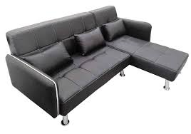 Modern Faux Leather Sofa Modern Faux Leather Lounger Sofa With Chaise Brown Black