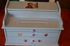 themed jewelry box frozen themed shabby chic child s jewelry box baby kids for