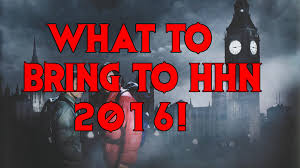 what to bring to halloween horror nights 2016 youtube