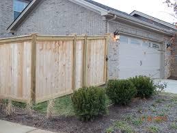 slatted panel horizontal screen trellis fence modern simple garden