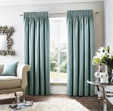 Pencil Pleat Curtains Curtina Rimini Grey Teal Lined Ready Made Pencil