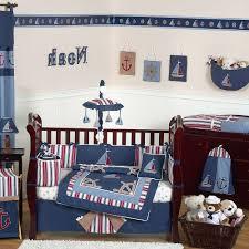 Ladybug Home Decor Ocean Baby Room White Leather Single Sofa White Wood Crib Cute