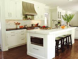 Microwave In Island In Kitchen Island Microwave Transitional Kitchen Benjamin Moore White