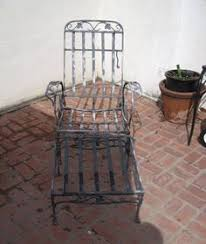 Metal Chaise Garden Furniture Woodard Wrought Iron Chaise Lounge Orleans