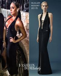 hot new years dresses hot or hmm lala anthony s new year s mugler resort 2015