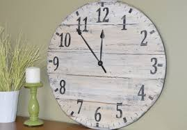 distressed wooden wall clocks