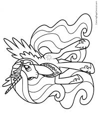 my little pony u2013 princess celestia 02 coloring page coloring