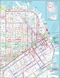 San Jose Bus Routes Map by Downtown San Francisco Transit Map Next Vacation Ideas