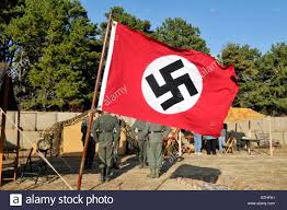 German Flag In Ww2 Germany Flag Flying Outside Re Created Wwii German Camp At