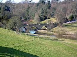 bridges alnwick castle bridge countryside woodland spring trees