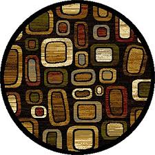 Brown Round Rugs 3 Foot Round Rugs Amazon Com