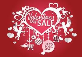 valentines sales valentines day sale poster template vector illustration