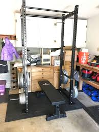 Bench For Power Rack Got My T 3 Power Rack And Titan Flat Bench Set Up Today And