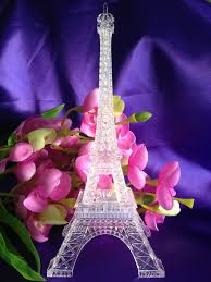 9 inch light up acrylic led eiffel tower souvenir w build in