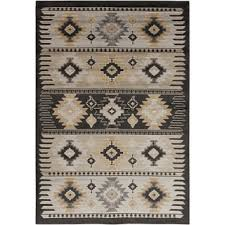 Aztec Design Rugs Meticulously Woven Black Grey Southwestern Aztec Nomad Area Rug 7