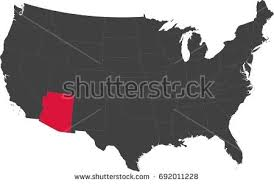 map of the united states with arizona highlighted map united states america split into stock vector 692011237