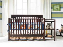 Convertible Crib And Changer by Amazing Cribs With Changing Table Sets Decoration U0026 Furniture