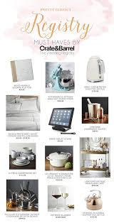 create your dream wedding registry with crate and barrel aisle